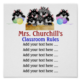 School Teacher's Classroom Rules . by SRF Print