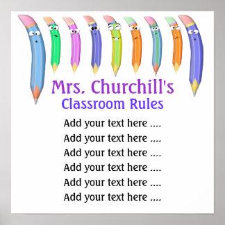 School Teacher's Classroom Rules by SRF Print