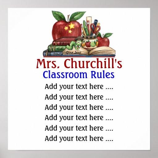 School Teacher's Classroom Rules  by SRF Posters