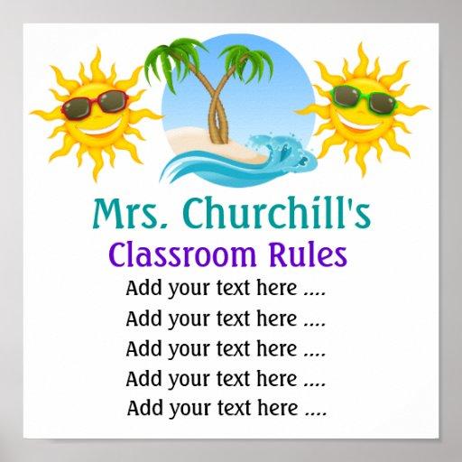 School Teacher's Classroom Rules . by SRF Posters
