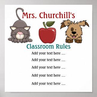 School Teacher's Classroom Rules LG. by SRF Posters