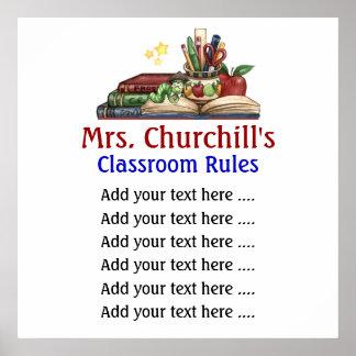 School Teacher's Classroom Rules Lg. by SRF Print
