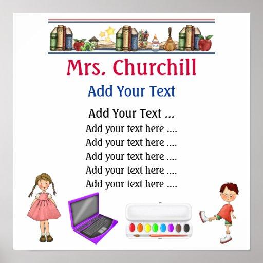 School Teacher's Classroom Rules LG. by SRF Poster