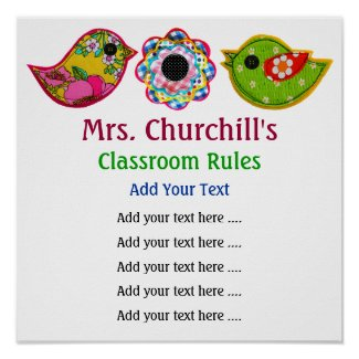 School Teacher's Classroom Rules - SRF print