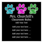School Teacher's Classroom Rules - SRF Poster