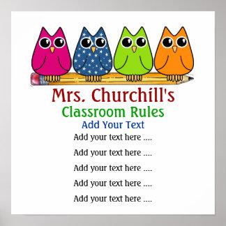 School Teacher's Classroom Rules - SRF Posters