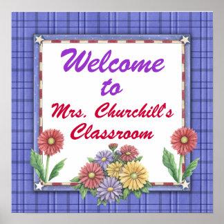 School Teacher's Classroom Sign by SRF Poster