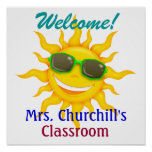 School Teacher's Classroom Welcome - SRF Poster
