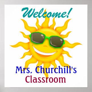School Teacher's Classroom Welcome - SRF Posters