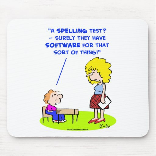 school teachers spelling test software mouse pad