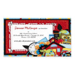 School theme business card