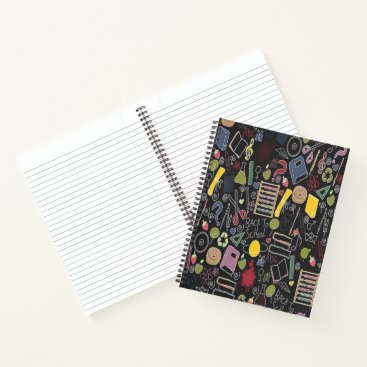Professional Business School theme on black notebook