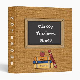 School Theme Teacher, Student Notebook Binder