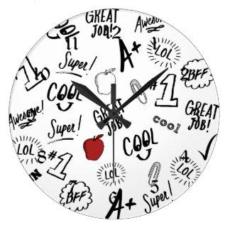 School Time Large Clock