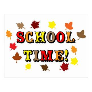 School Time Postcard