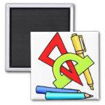 School Tools 2 Inch Square Magnet