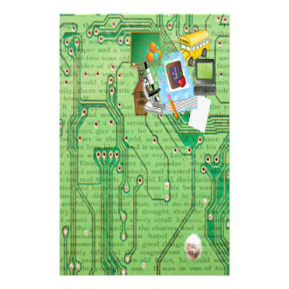 School Tools & Supplies Collage Personalized Stationery