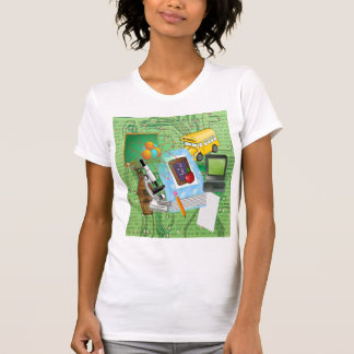 School Tools & Supplies Collage T-shirt