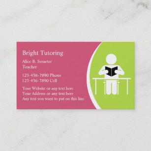 Home tutor business cards templates zazzle school tutoring business cards colourmoves