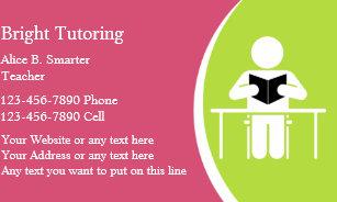 Tutor business cards templates zazzle school tutoring business cards colourmoves Choice Image