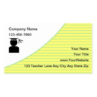 School Tutoring Business Cards