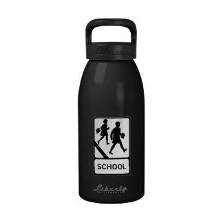 School, UK Traffic Sign Reusable Water Bottles