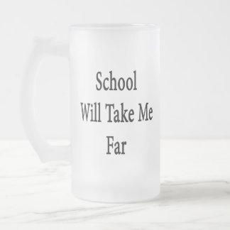 School Will Take Me Far Mugs