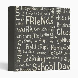School Words binder