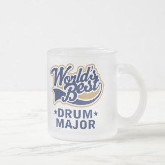 School Worlds Best Drum Major Gift 10 Oz Frosted Glass Coffee Mug