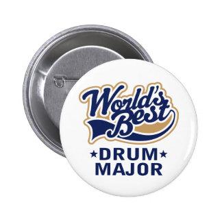 School Worlds Best Drum Major Gift 2 Inch Round Button