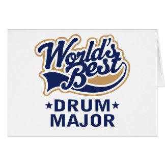 School Worlds Best Drum Major Gift Greeting Card