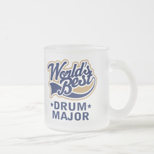 School Worlds Best Drum Major Gift Frosted Glass Coffee Mug