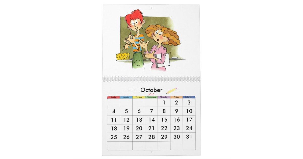 Year Calendar For Kids : School year calendar for kids zazzle