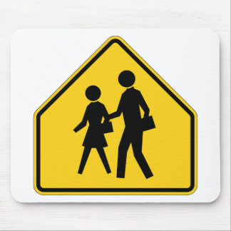 School Zone Highway Sign Mouse Pad