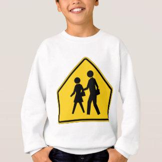 School Zone Highway Sign Sweatshirt