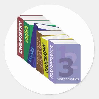 Schoolbooks Classic Round Sticker