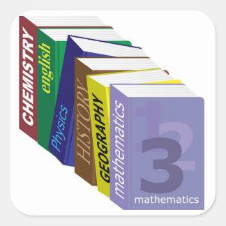 Schoolbooks Square Sticker
