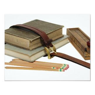 """SchoolBooksPencils071709 Invitación 4.25"""" X 5.5"""""""
