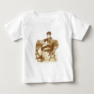Schoolboy, Boy at school, sepia, vintage Baby T-Shirt