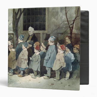 Schoolboys in the Playground 3 Ring Binder