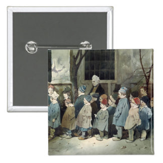Schoolboys in the Playground Pinback Button