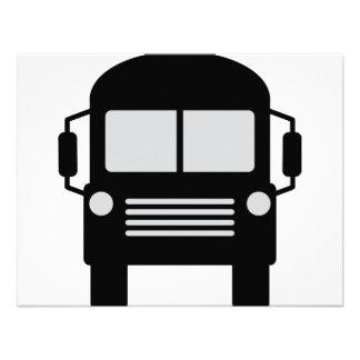 schoolbus icon personalized invitation