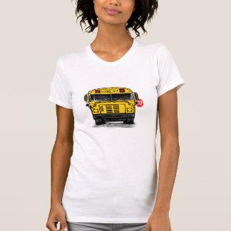 schoolbuswithstopsignwomensteeshirt t shirt