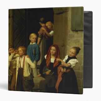 Schoolchildren Watching a Boy Cry, 1861 3 Ring Binder