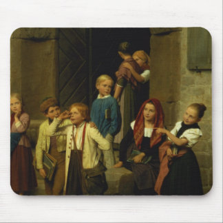 Schoolchildren Watching a Boy Cry, 1861 Mouse Pad