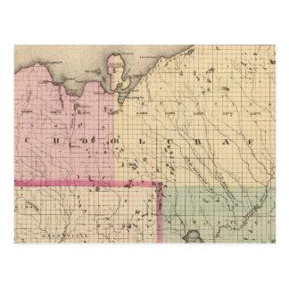 Schoolcraft County Michigan Postcard