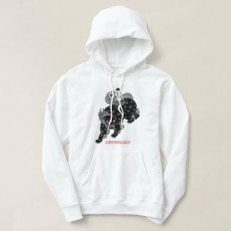 schoolgirl and shishi (temple lion) hoodie