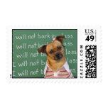 Schoolgirl dog stamp