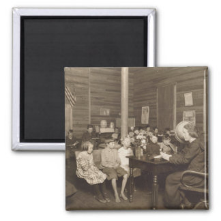 Schoolhouse by Lewis Hine, 1921 2 Inch Square Magnet
