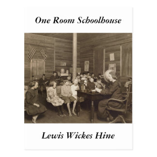 Schoolhouse by Lewis Hine, 1921 Postcard